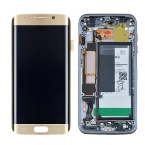 Genuine Samsung Galaxy S7 Edge with Battery SuperAmoled Lcd Screen Digitizer Gold