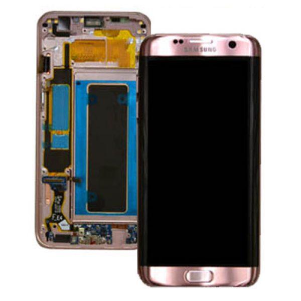Genuine Samsung Galaxy S7 Edge SMG935F SuperAmoled Lcd Screen Digitizer Rose Gold