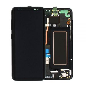 Genuine Samsung Galaxy S8 G950 SuperAmoled Lcd Screen Digitizer Black / MPN: GH97-20457A / Color: Black delivered in UK and EU.