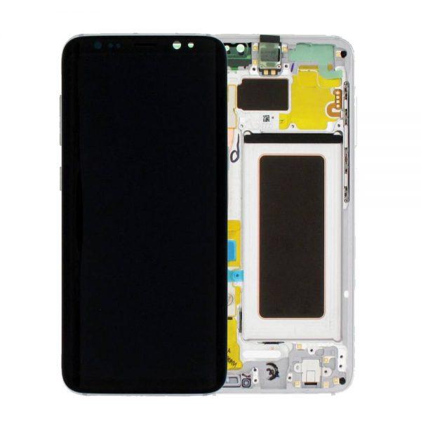 Genuine Samsung Galaxy S8 SMG950F SuperAmoled Lcd Screen Digitizer Orchid Grey