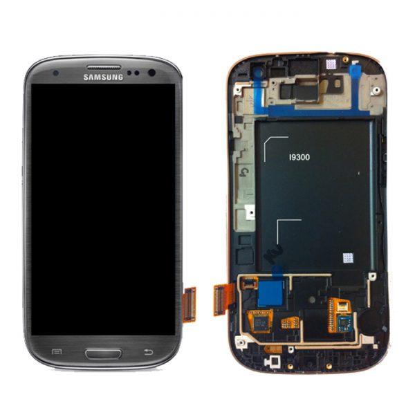 Genuine Samsung Galaxy S3 i9300 Complete SuperAmoled Lcd Screen Digitizer Titanium Grey Fully Refurbished