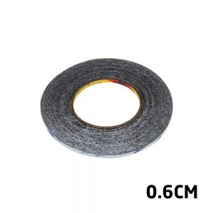 Adhesive Tape 3M Length Strong Double Sided Black 0.6cm Width For Digitizers Frames