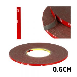 Adhesive Tape 3M Length Strong Double Sided Red 0.6cm Width For Digitizers Frames