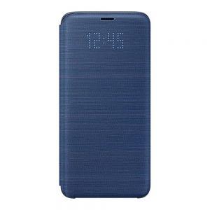 Genuine Samsung Galaxy S9 G960 LED Flip Wallet Case Blue