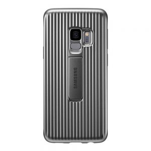 Genuine Samsung Galaxy S9 G960 Protective Standing Cover Case Silver