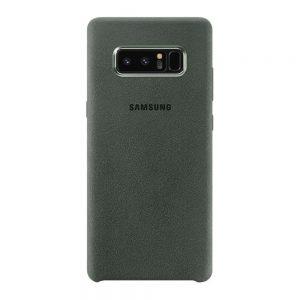 Genuine Samsung Galaxy Note 8 Alcantara Dark Grey Back Cover Case