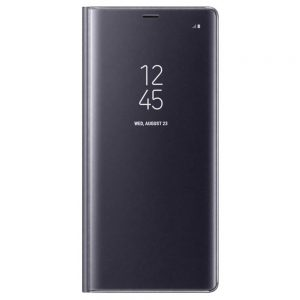 Genuine Samsung Galaxy Note 8 Clear View Standing Cover Case Orchid Gray