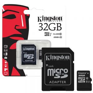 Kingston Micro SD 32GB Memory Card With Adapter
