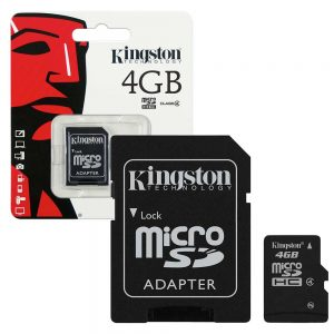 Kingston Micro SD 4GB Memory Card With Adapter