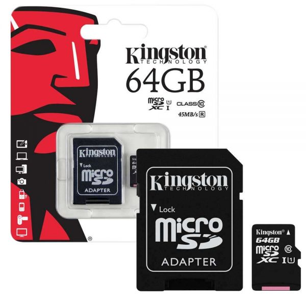 Brand New Kingston Micro SD 64GB Memory Card With Adapter