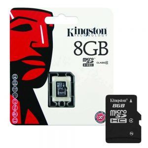 Kingston Micro SD 8GB Memory Card With Adapter