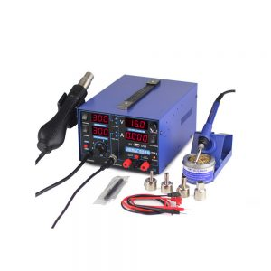YIHUA 853D 2A USB 4-LED Soldering Rework Station Hot Air Gun&Power Supply