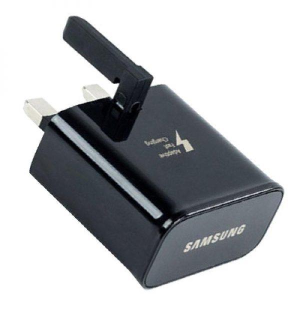 Original Samsung EP-TA20UBE Fast Charger 2 Amp UK Main Black