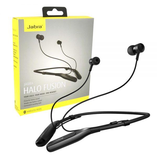 Jabra Halo Fusion Wireless Bluetooth Headphones in Black