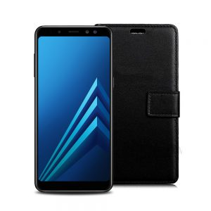 Wallet Flip Case for Samsung Galaxy A5 2018 A8 2018 Black
