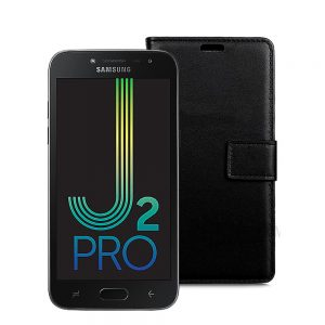 Wallet Flip Case for Samsung Galaxy J2 Pro 2018 Black