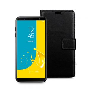 Wallet Flip Case for Samsung Galaxy J8 2018 Black