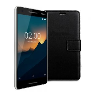 Wallet Flip Case for Nokia 2.1 Black