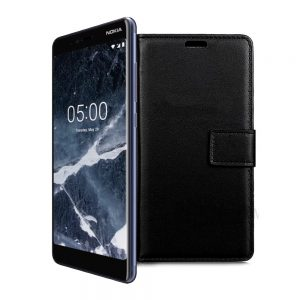 Wallet Flip Case for Nokia 5.1 Black