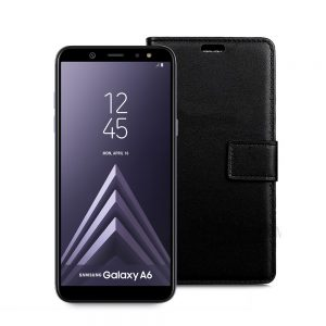 Wallet Flip Case for Samsung Galaxy A6 2018 Black
