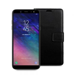 Wallet Flip Case for Samsung Galaxy A6 Plus 2018 Black