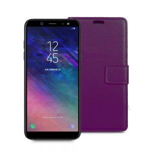 Wallet Flip Case for Samsung Galaxy A6 Plus 2018 Pink