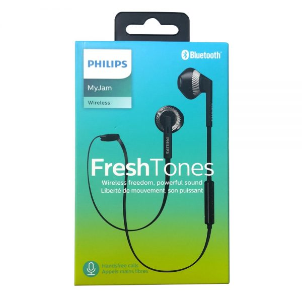 Philips FreshTones Wireless Bluetooth Earphones With Microphone Black SHB5250