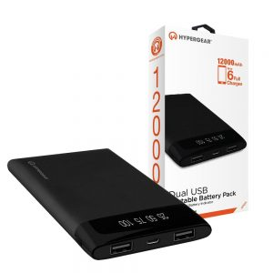 Hypergear Power bank 12000 mAh with Dual USB