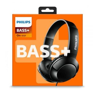 Philips Bass+ On-Ear Closed-Back Headphones SHL3070 in Black