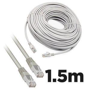 Cat5e RJ45 1.5m Moulded Ethernet Network Patch