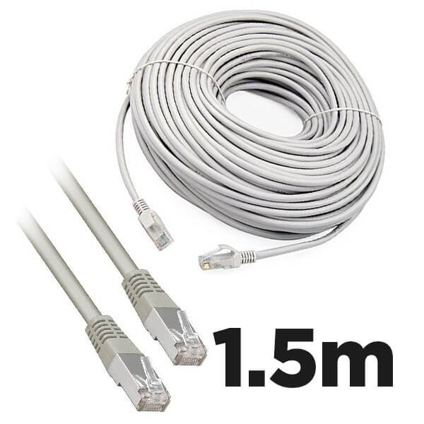 Cat5e RJ45 1.5m Moulded Ethernet Network Patch