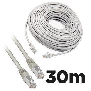 Cat5e RJ45 30m Moulded Ethernet Network Patch