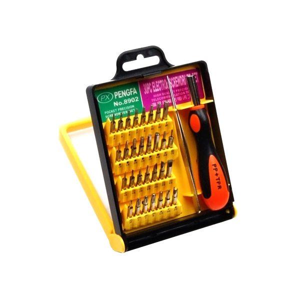 Pengfa 8902 30-in-1 Screwdriver Tool Kit for All Mobile Phones,Tablet & Laptop Repair