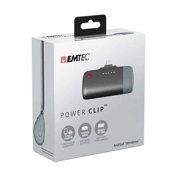 EMTEC Power Clip Small Power Bank for Android Phones U400