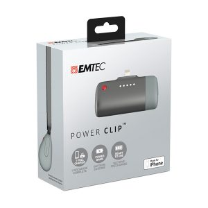 EMTEC Power Clip Small Power Bank for Apple iPhones U400