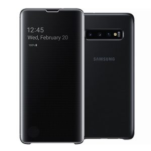 Official Samsung Galaxy S10 Clear View Cover Case Black