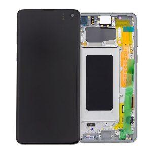 Genuine Samsung Galaxy S10 G973 LCD Screen with Digitizer Prism White