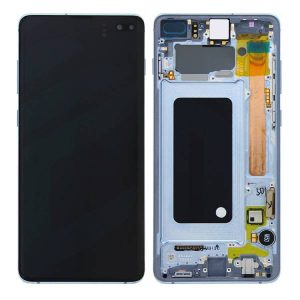 Get Genuine Samsung Galaxy S10 Plus G975 LCD Screen with Digitizer Prism Blue delivered in the UK, EU and rest of the world.c