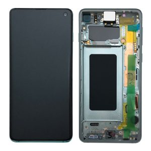 Genuine Samsung Galaxy S10 G973 LCD Screen with Digitizer Prism Green