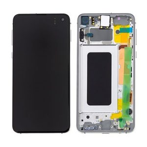 Genuine Samsung Galaxy S10E G970 LCD Screen with Digitizer Prism White