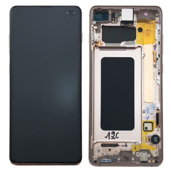Genuine Samsung Galaxy S10+ Plus G975 LCD Screen with Digitizer Ceramic White