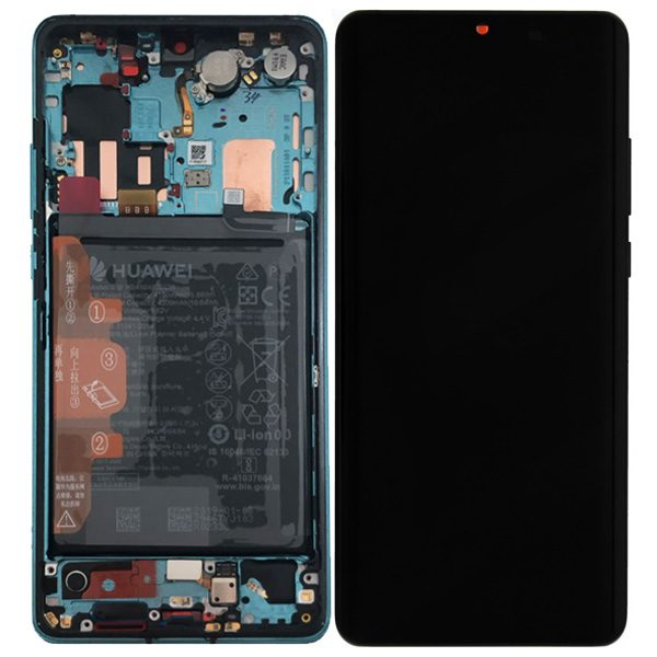 Genuine Huawei P30 Pro LCD Screen and Digitizer Aurora Blue plus Battery
