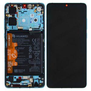 Genuine Huawei P30 LCD Screen and Digitizer Aurora Blue plus Battery