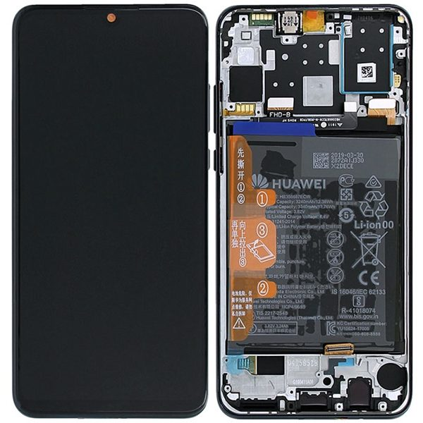 Genuine Huawei P30 Lite LCD Screen and Digitizer Black plus Battery