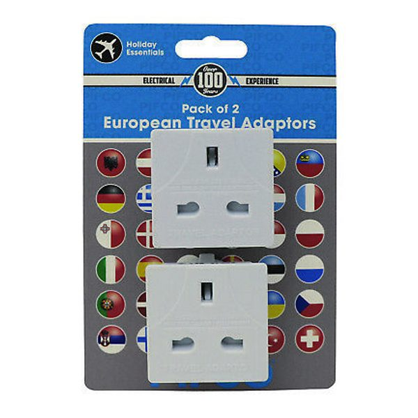 Holiday Esssentials Pifco UK to European International Mains Socket Travel Adaptor