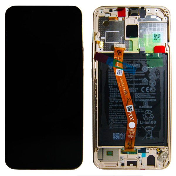 Genuine Huawei Mate 20 Lite LCD Screen and Digitizer Gold plus Battery
