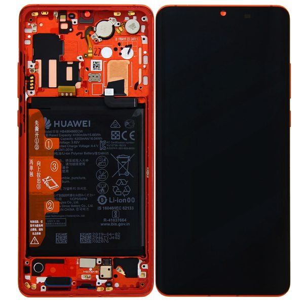 Genuine Huawei P30 Pro LCD Screen and Digitizer Amber Sunrise plus Battery