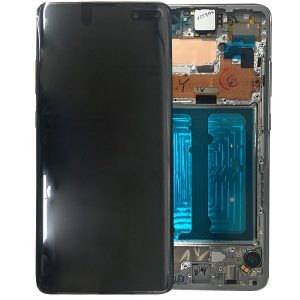 Genuine Samsung Galaxy S10 5G G977 LCD Screen with Digitizer Crown Silver