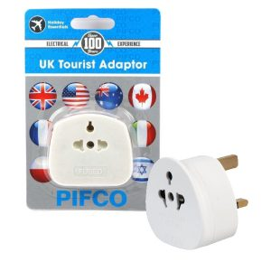 Holiday Esssentials Pifco International to UK Mains Socket Tourist Adaptor