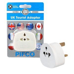 Holiday Esssentials Pifco International to UK Mains Socket Tourist Adaptor
